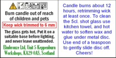 candle safety leaflet